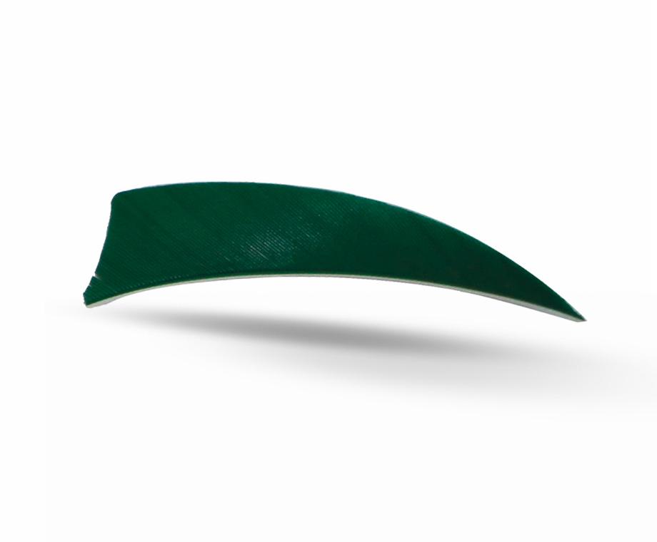 GAS PRO NATURAL FEATHERS 3'' SHIELD 50 PACK DARK GREEN